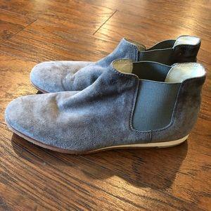 TOD'S Grey Suede Bootie 34.5 / 5